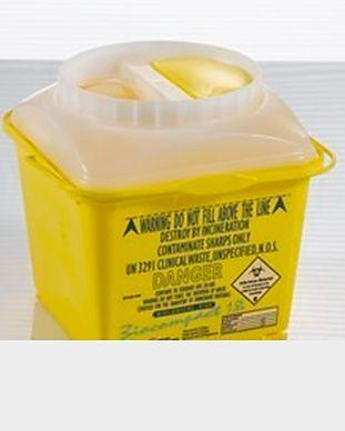 Recipientes de descarte para materiais perfurocortantes